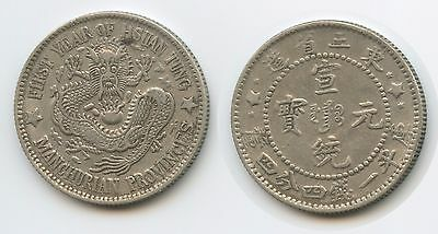 G13160 - China Manchurian Provinces 20 Cents 1909-1915 Y#213.? Silber