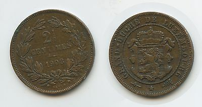 G7701 - Luxemburg 2½ Centimes 1908 KM#21 William IV.1905-1912 Luxembourg