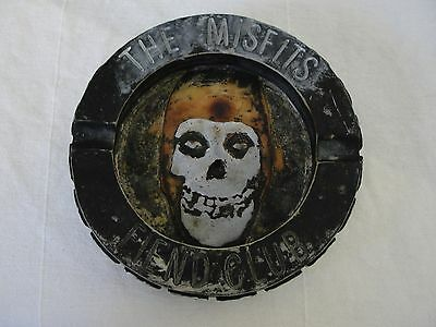 The Misfits Fiend Club Ash Tray Wall Plaque 2004 Cyclopian Music Co. Licensed