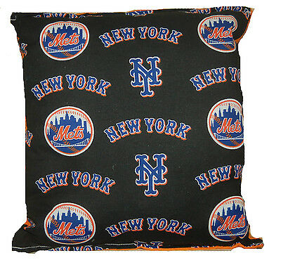 Mets Pillow NY Mets New York Mets MLB Pillow Handmade in USA.