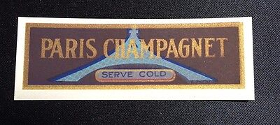 Vintage Paris Champagnet Dry Ginger Ale Label, Smallest