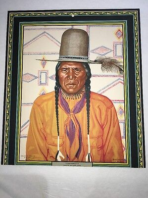 Great Northern Railroad Winold Reiss American Indian Calendar Top Nightshoots