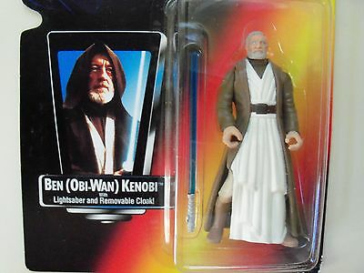 "Star Wars ""the Power Of The Force"" Ben (Obi-Wan) Kenobi / Lightsaber Figure"