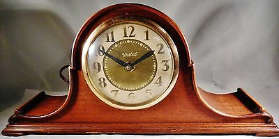Vintage United Art Deco Shelf Clock Model No 75 Works!