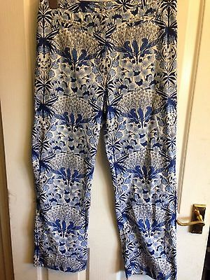 Stunning Tommy Hilfiger Golf Floral Trousers Us 6 Uk 10