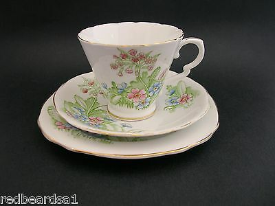 Royal Stafford Vintage Bone China Trio Cup Saucer Plate Primula England 7969
