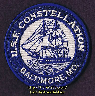 LMH Patch Badge  USF CONSTELLATION  Navy Frigate USS Sailboat Warship  Baltimore