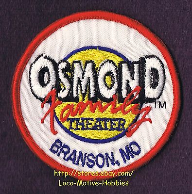 """LMH Patch Badge  OSMOND FAMILY THEATER  Play Musical Music Shows BRANSON MO 3"""""""