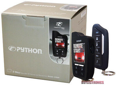 Python 5906 HD Car Remote Start /Security/ Keyless Entry 2-Way Responder 5906P