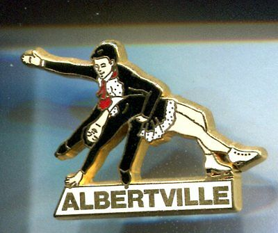 Rare Pins Pin's .. Olympique Olympic Albertville 1992 Patinage Duo Arthus B. ~16