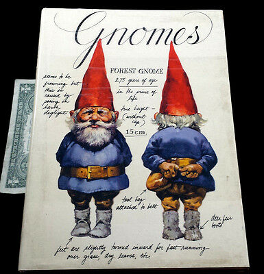 Vintage Gnomes Rien Poortvliet Wil Huygen  1977 Hcdj Illustrated Abrams Book Htf