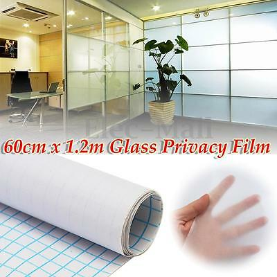 "24""x48"" Frosted Glass Film Home Bathroom Window Privacy Tint Sticker DIY Decal"