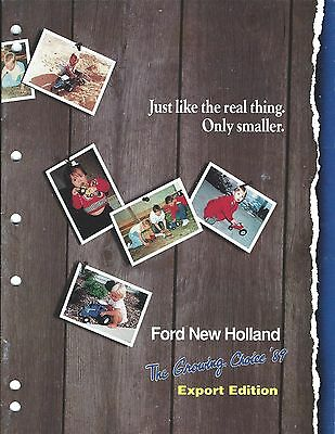 Farm Auto Toy Brochure - Ford New Holland ERTL- Tractor Car Model - 1989 (F4999)