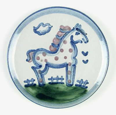 M A Hadley COUNTRY SCENE BLUE Horse Bread & Butter Plate 5813579