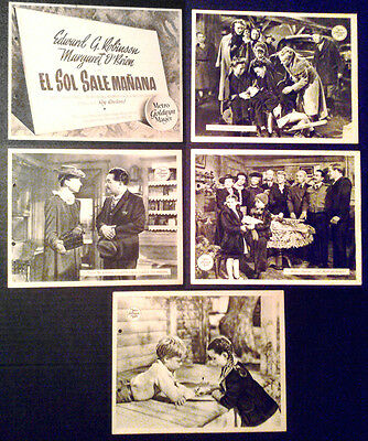 Lobby Card Lot~ OUR VINES HAVE TENDER GRAPES ~Edward G Robinson~Margaret O'Brien