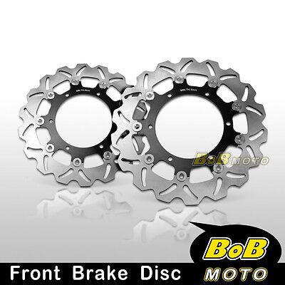 Yamaha FZ6 FAZER S2 600 2007 2008 Front Stainless Steel Brake Disc Rotor Pair