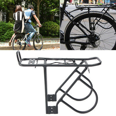 Bicycle Carrier Rack Bike Disc Brake Rear Mount Cycling Post Luggage Black