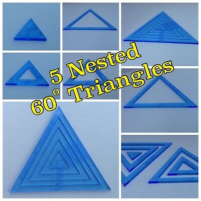quilting templates Triangle 60 Deg