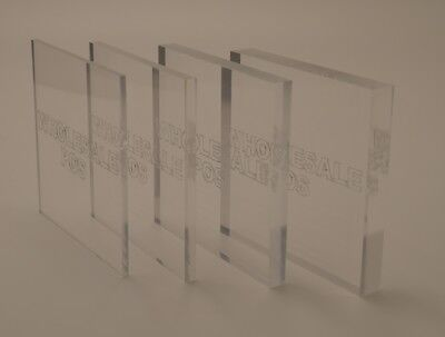 Clear Perspex Acrylic Plastic Sheet Cut to Size Window Transparent Glass Replace