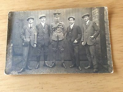 WW1 BAND of BROTHERS Ready to signup RP Postcard