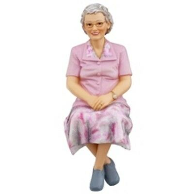Dolls house figure 1/12th scale Poly/Resin Lady sitting named Rose