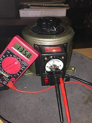 Tenma 72-110 Variable Auto Transformer W/ Amp Meter 0-130 V @ 10 A