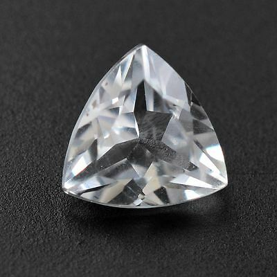 6mm TRILLIANT-FACET TOP-WHITE NATURAL AFRICAN TOPAZ GEMSTONE