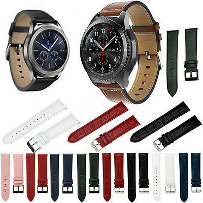 Replacement Leather Watch Bracelet Strap Band For Samsung Gear S3 Frontier NEW