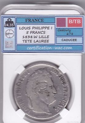 5 Francs Louis Philippe I 1838.w Lille