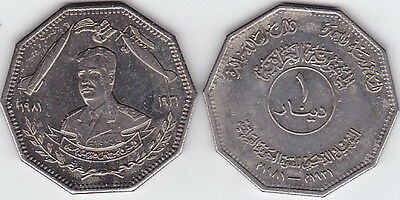 Iraq 1 Dinar Of 1981 Port.of Saddam Hussein Km#153 In Fine Cond.