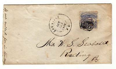US Scott # 114 on Cover ~ Annville. PA 1869