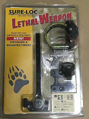 Sure-Loc LETHAL WEAPON 1 Model 200 5 pin Archery Compound Sight