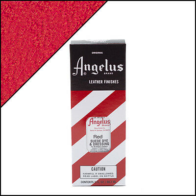 New Angelus Brand Suede Dye for Shoes / Sneakers - Red - 3oz