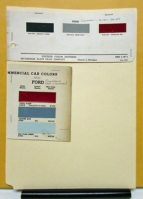 1951 1952 1953 1954 Ford Truck Paint Chips