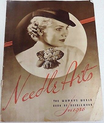 Vintage 1936 Needle Arts Woman's Needlework Catalog Ladies Fashions