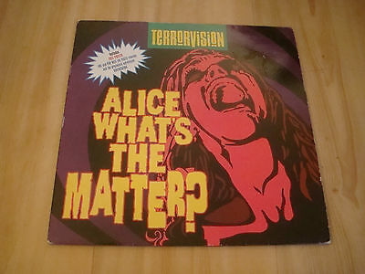 """Terrorvision - Alice What's The Matter (Emi 12"""") Includes Poster"""