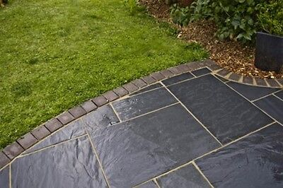 Blue-Black Slate Paving Slabs 80x20 - Natural Stone - Garden Patio Flags 800x200
