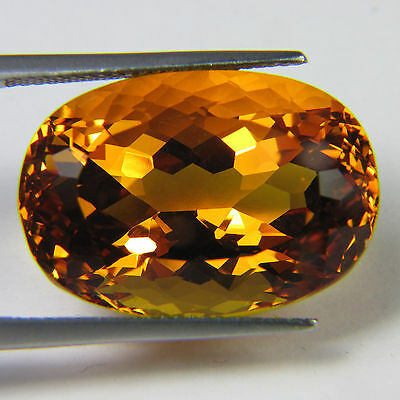 RARE 6x4mm OVAL-FACET DEEP-BRANDY NATURAL BRAZILIAN CITRINE GEMSTONE