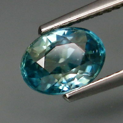 Earth Mined Premium Blue Zircon From Russia  Ct 7.8X5.8Mm Top Aaa Gemstone