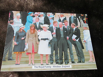 Postcard Royal Wedding Day 1999 of Prince Charles and Camilla - QUEEN & Family