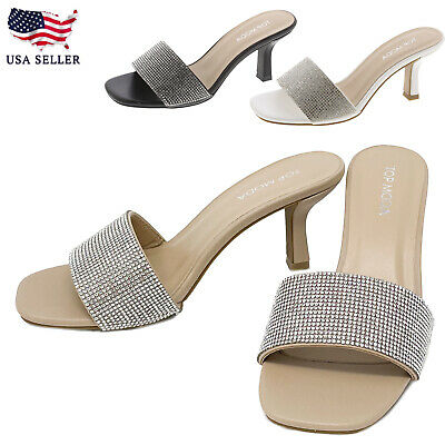 New Women Ankle Strap Open Toe Faux Suede Chunky Block Heel Dress Sandals Shoes