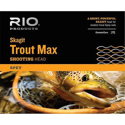 Rio New Skagit Trout Max Short 275-Gr Spey Shooting Head For 3/4 Weight Spey Rod