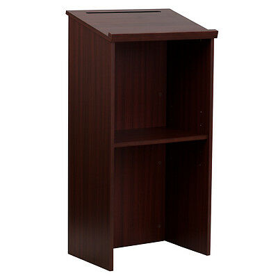New! Mahogany Finish Restaurant Host Hostess Announcement Reservation Stands
