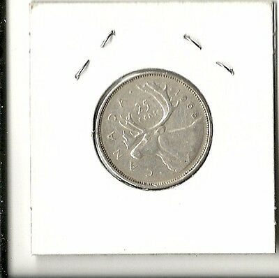 Canada 25 Cents Quarter 1968 - 0.500 Silver, Last Year,