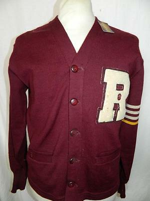 Mens Vintage 1940's/50's American college cardigan, by Jack Frost, rockabilly -M