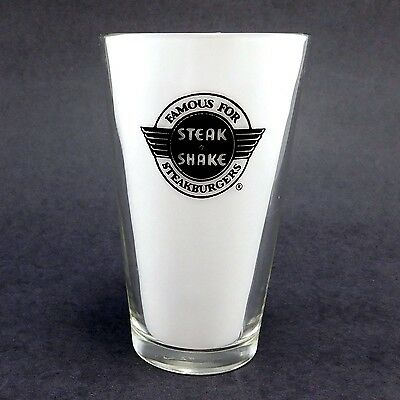 1960's Vintage, Steak n Shake Drink Glass, Thick Walled, 16oz, Pint Glass