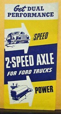 1948 1949 1950 1951 1952 1953 Ford Truck 2 Speed Axle Sales Folder