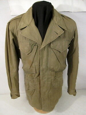 WWII US Army M43 M1943 Cold Weather Combat Field Jacket - Size 34R