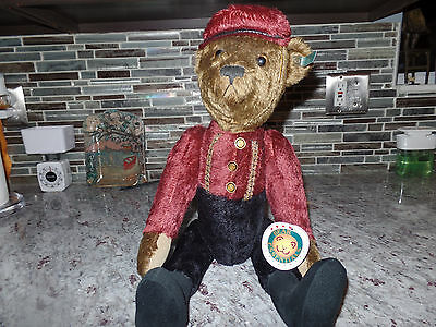 "Bellhop 21"" Mohair Effanbee Bear by Bear Essentials  Fully Jointed suede paws"