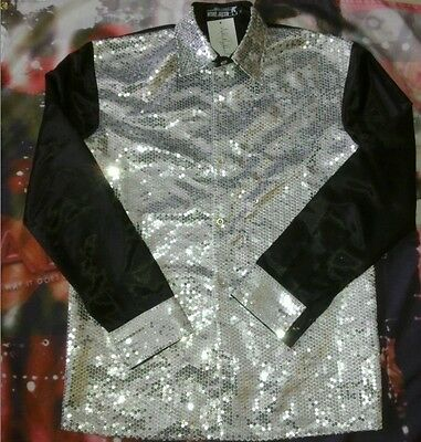 MICHAEL JACKSON BILLIE JEAN 25th MOTOWN SEQUIN SHIRT